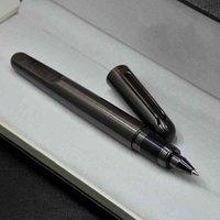 Ballpoint Pens Top Luxury MT Magnetic Pen Limited Edition Mシリーズグレーとシルバーメタルローラーボールの文房具誕生日ギフトXeedとしての事務用品