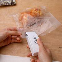Mini Portable Heat Sealing Machine Travel Hand Pressure Household Impulse Sealer Seal Packing Plastic Bag Food Saver Storage Tools DWE6717