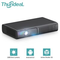 ThanDeal Tech DLP Proyector 2000 ANSI SMART T615 para 1080p 4k Video Mini Beamer WiFi Android 3D Home Cinema 210609