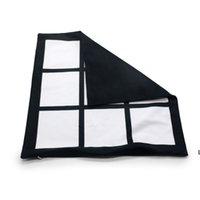 Sublimazione Blank Fodera Black Grid Grid Tessuto Poliestere Cuscino Copertura del Cuscino di Transfer di calore Coperchio di cuscino Throw Throw Sofà Pillowcases 40 * 40cm HWWE6742