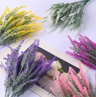 5 têtes Romantique Provence Mousse de lavande Fleur artificielle Faux de Noël Faux Plantes Silk Flores Mariage Mariage Maison Jardin Table De Jardin Décoration d'automne