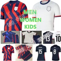 Hombres Mujeres Jóvenes Kit Kit Fútbol Christian Pulisic Jerseys Alex Morgan Julie Ertz Megan Rapinoe Press Lloyd Heath Yedlin Dempsey Jersey United States Football Shirt