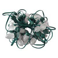 Módulos 200pcs LED Cadena de luz de Navidad S24 C9 Dirigente WS2811 12V Technicolor Pixel Module Green Wire & Case; IP67