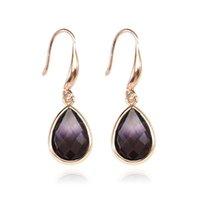 Boho Korean Colourful Crystal Earrings Fashion Teardrop Geometric Dangle Earring for Women Luxury Glass Jewelry Gift