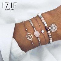Charme Bracelets Daxi 4 PCS / Set Bohemian Fashion Arbre de vie Bracelets pour femmes Beads Chaîne Ensembles Cadeaux de bijoux 2021