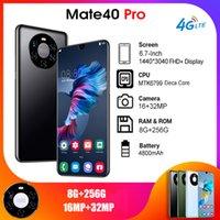 الهاتف الخليوي العالمية النسخة العالمية الروبوت mate40 برو الذكي 6.7 بوصة بطاقات SIM المزدوجة الهاتف المحمول 3G 4G خلية الهواتف الذكية الوجه فتح