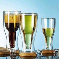 Jankng creativo cóctel copa de vino doble pared tazas de cerveza copas de vino whisky champagne vidrio taza de café vodka tazas botella