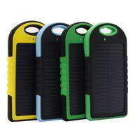 5000mah 2 Port USB Port Solar Power Bank Chargeur Sauvegarde externe Batterie avec boîte de vente au détail pour Samsung Android Téléphone mobile La plupart des appareils