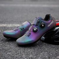 Profissional, esportes, estrada, bicicleta, sapatos, coloridos, reflexivo, cor, mudando, montanha, respirável, bicicleta, correndo, selvagem, sapato, sapato, calçados ciclismo