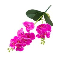 Decorative Flowers & Wreaths 12 Heads Home Decor Balcony Artificial Butterfly Orchid Easy Care Real Touch Office Plastic Outside Garden Wedd