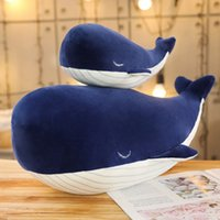 25-85CM Giant Size Plush Toy Sea Animal Blue Whale Soft Toys Stuffed Children's Birthday Gifts 0342
