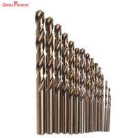 15pcs Cobalt Drill Bits For Metal Wood Working M35 HSS Co Steel Straight Shank 1.5-10mm Twist Drill Bit Power Tools Drillforce
