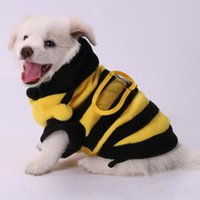Dog Apparel Cute Bee Costume Pets Clothes Puppy Jumpsuit Pet Cat Jumper Hooded Coat Walking Costumes For Small Dogs