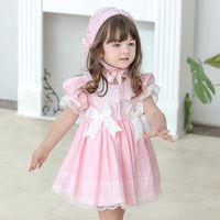 Bambina Summer Lolita Dress Dress Toddler Princess Bambini Dress Dress Turky Neonate Abbigliamento vintage spagnolo per il partito di compleanno Abbigliamento 802 x2
