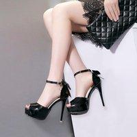 Summer Gladiator Peep Toe Crystal Women's Sandals Sexy Platform Stiletto High Heels Belt Buckle Roman Shoes For Women