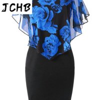 Patchwork Mesh Rose Print Pencil 5XL Plus Size Dress Office Lady Elegant Bag Hip Tight Summer O Neck Sleeveless Work Wear Casual Dresses