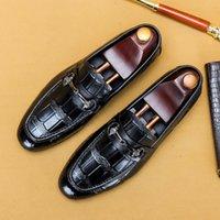 Повседневная обувь 8SVV Pattern PinduoDuo мода Дуду Мужская кожаная крокодил бренд такой же деловая повседневная обувь WVBI