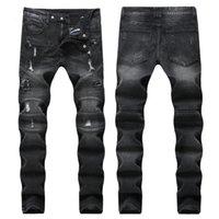 Estilo de moda Primavera estilo vaqueiro calça pant punk homens calças jeans casuais jeans de moto de alta qualidade calças de alta qualidade atacado
