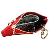 Card Holders WM67 Genuine Leather Coin Purse Women Small Wallet Change Purses Mini Zipper Money Bags Children's Pocket Wallets Key Holder