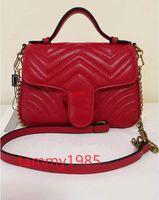 Middle 24 cm e grande dimensione: 26 * 18 * 10 cm di alta qualità donna borse borse borse borse a borse con borse in pelle catena oro borsa a tracolla con spalla con spalla maniglia a tracolla borsa tote
