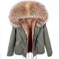 MAOMAOKONG Fashion Women's Real fur collar coat natural raccoon big fur collar winter parka bomber jacket 211013