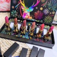 6pcs opaco rossetto Set box Stick Lip Stick 6 colori Nude Red Sticks Lips Kit trucco Borsa regalo