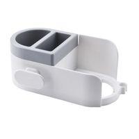 Настенный держатель для волос для ванной комнаты полки для хранения стойки Органайзер настенная полка для ванной аксессуары