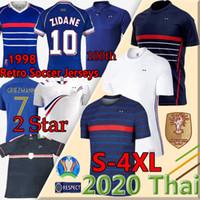 10 Zidane 1998 Фрэнсис Ретро Винтаж Зидан Генри Майлот Equipe de France 20 21 MBappe Griezmann Kante Pogba Футболка S-4XL Униформа