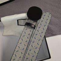 2021 Belt Mens Womens Fashion 3.8 cm Larghezza lettera Stampa Cintura per uomo Donne Lettere grandi Bronzo Argento Argento Black Fibbia di alta qualità 21060701V