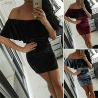 Off Shoulder Lace Short Mini Dress For Women Ruffles Solid White Hot Slim Casual Summer Bodycon Fashion Sexy Beach Sundress