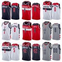 Imprimir Basketball Jerseys Bradley Beal 3 Russell Westbrook 0 Rui Hachimura 8 Robin Lopez 42 Cassius Winson 5 Deni Avdija 9 Ciudad Gris S-2XL