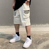 9 Renkler Rahat Joggers Terry Kargo Şort Erkekler Katı Cep Hip Hop Boy Baggy Yaz Kısa Gevşek İpli Beş Nokta Pantolon