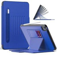 Для iPad Air 4 10.9 Universal PRO 11 Автоматический спящий Чехол Планшетный Чехол Отрегулируйте ланческую карандаш Слот Flip PU Кожаная Книга