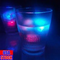 Party Dekoration LED Eiswürfel Glowing Ball Blitzlicht Leuchtende Neon Hochzeit Festival Weihnachtsbar Weinglas liefert USA