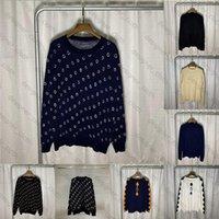 21ss теплые зимние мужские женские дизайнеры свитера высокого качества бренды мужские одежды люкс одежда вязаная низкая шея полна букв мужчин свитер