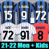 Fãs Jogador 21 22 Atalanta BC Futebol DUVAN 2021 2022 Atalanta Iličić Suporte Jersey DE ROON Football Shirt MURIEL GOMEZ