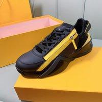 Homens Fluxo Casual Sapatos Camurça De Couro Lambskin Forro Não-Deslize Outsole Sapato Malha Zíper Top Quality Outdoor Moda Lace-Up Flats com Box 38-44