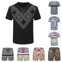 21SS Mens Beach Designers TrackSuits Summer Suits Fashion T Shirt Seaside Camicie da vacanze Pantaloncini Pantaloncini Set Man Universia Casual Abiti sportivi Abbigliamento sportivo 2021 m-3XL