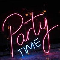 Andere Beleuchtungslampen Röhrchen LED Neonlichter Buchstaben Party Zeit Zeichen Kunst Dekorativ Für Urlaub Hochzeit Bar Shop Schlafzimmer Zimmerfenster Open WORE