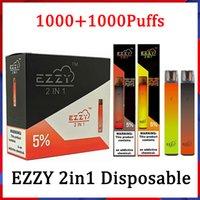 Ezzy Super 2in1 Dispositif de cigarette jetable E.5ml 2000 POD POFF POFT 900MAH 2 en 1 vs Kangvape suree