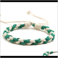 Charm Drop Delivery 2021 Hand Weave Braid Bracelet Simple String Adjustable Women Mens Bracelets Bangle Cuff Fashion Jewelry Will And Sandy G