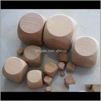 Gambing 16mm 6-сторонние пустые деревянные кубики Специальное назначение DIY перерабатывающие бозоны маленький подарок игра кубика хорошая цена Высокое качество B11 OPMQ8 4NZKG