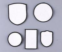 Accessoires de tissu SUBLIMATION HAP PATCHES TRANSFERT THERMIQUE Chapeaux Patch Blanc Blanc Tissu Toile Square Round DIY Cadeau Decor FWF8911