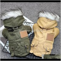 Apparel Supplies Home & Gardenfashion Pet Cats Dogs Winter Warm Down Jacket Medium Large And Small Dog Hooded Clothes Lightweight Hoodie Dro