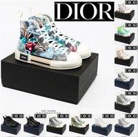 Männer Frauen Designer Casual Schuhe Herren Turnschuhe Dior B23 Schrägdamen High Lower Top B24 Technische Leinwand Leder Biene Classic Luxurys Trainer