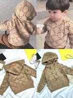 Çocuklar Kazak Kızlar Mektup Örme Kazak Kapşonlu Kazak Bebek Çocuk Uzun Kollu Rahat Jumper Güz Kış Erkek Sevimli Üst Giyim Size90-140