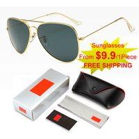 الجودة الأصلية النظارات الشمسية الفاخرة للرجل العلامة التجارية تصميم الأزياء الكلاسيكية عرض خاص حملق uv400 الاستقطاب 6 ألوان هدية مربع مجموعة