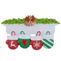 NewStyle Personalisierte Familie Weihnachtsbaum Ornament Anhänger Mini Weihnachtsstocking Hängende Anhänger DWE10078