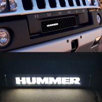 Badge Emblem DRL Day Funzionamento leggero Cappuccio Grill Grille Bonnet LED LOGH LOGH LOGH per Hummer H1 H2 H3
