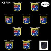 العلم الوطني التصحيح هوك حلقة أستراليا شارات شارة عصا 3d على ظهر سترة ملصقات